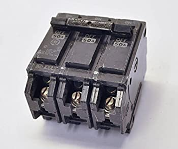 GE THQB32050 Bolt-On Mount Type THQB Miniature Circuit Breaker 3-Pole 50 Amp 240 Volt AC