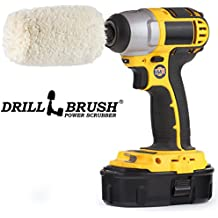 Drill Brush - Soft - Cotton - Cone - Buffer Polisher - Car Buffer - Buffing Wheel - Polisher - Metal - Chrome - Stainless Steel - Aluminum - Titanium - Glass - Wood - Buffer - Wheels - Rims - Engine