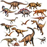 New DINOSAURS 16 BiG T-REX Wall STICKERS Boys Room Decor Decals Bedroom Decoration
