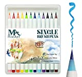 Brush Pens Set 12 Colors for Adult Coloring Books