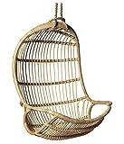 Virasat Furniture & Furnishing Outdoor/Indoor/Balcony/Garden/Patio/Hanging Swing Chair Of Bamboo/Color (Bronze)