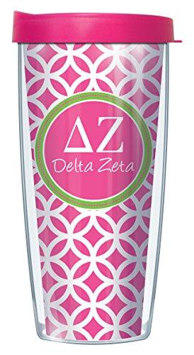 Delta Zeta On Roundabout Traveler 16 Oz Tumbler Mug with Lid