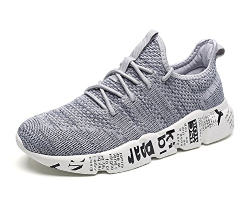 Scennek Men's Sports Shoes Fashion Mesh Breathable Casual Shoes Lightweight Running Shoes Grey (Best Sports Shoes For Running In India)