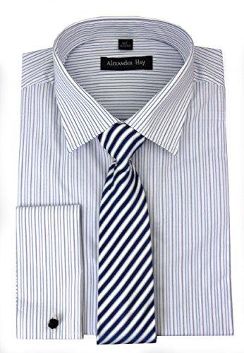 De Fine Stripe Bleu Chemises Et Alexander Foin Violet Jeux Soirée fgwxW7q5