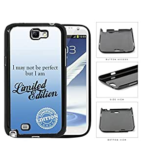 I Am Limited Edition Blue Hard Plastic Snap On Cell Phone Case Samsung Galaxy Note 2 II N7100