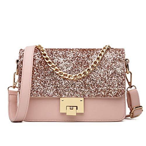 Handbag PU 9 Ladies Bag Black 15cm x Shoulder Wallet for 22 with Women Leather EDLUX Pink x Purse 5O0cqwAvv