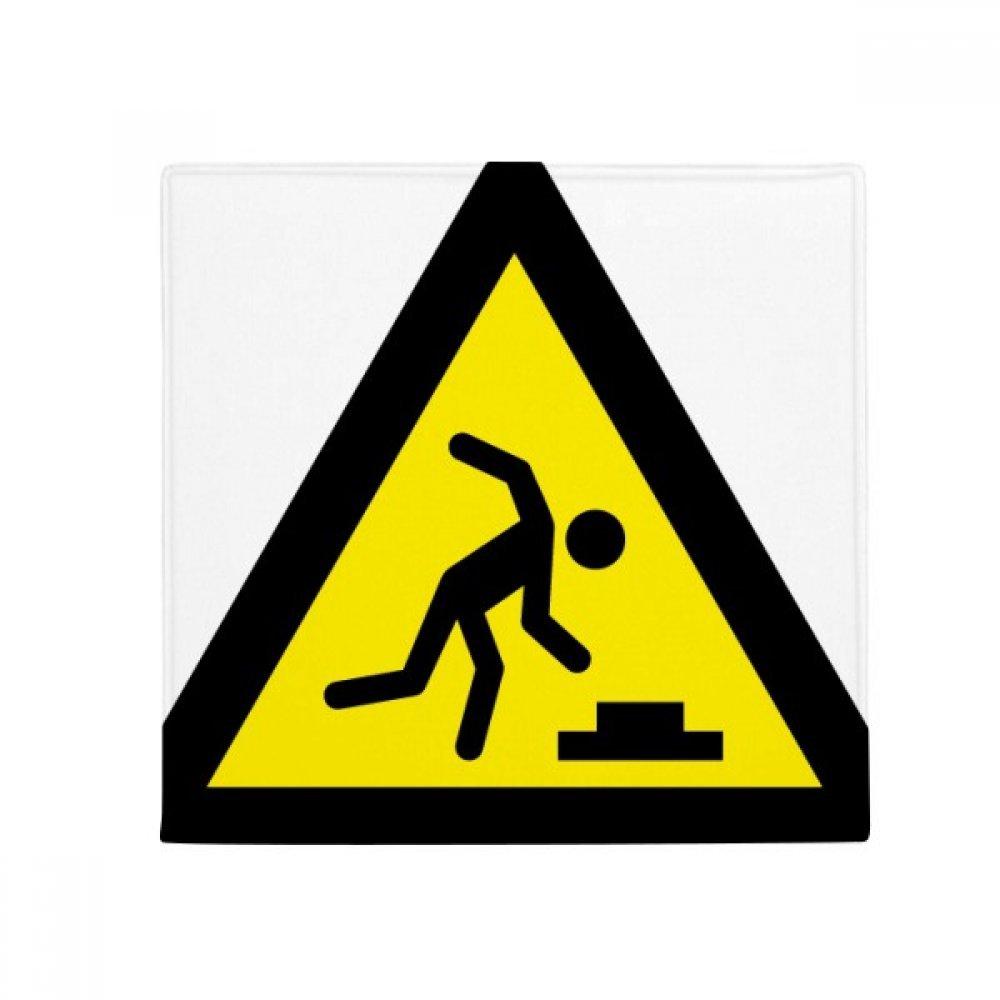 DIYthinker Warning Symbol Yellow Black Stumble Triangle Anti-Slip Floor Pet Mat Square Home Kitchen Door 80Cm Gift