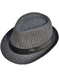 466a49db241 Men s   Women s Manhattan Structured Gangster Trilby Wool Fedora Hat Black