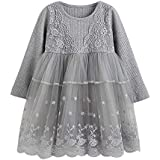 AMSKY❤ Personalized Baby Outfits for Boys,Toddler Kids Baby Girl Lace Flower Princess Tulle Party Pageant Dresses Clothes
