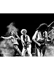 Queen Freddie Mercury Brian May John Deacon smoke filled stage cool 8x10 Promotional Photo