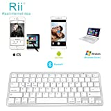 Rii BT09 Ultra Slim Lightweight Mini Wireless Bluetooth Keyboard For iOS Android Windows Devices iPad Mini, iPhone MacBook, Tablets PC Samsung Galaxy