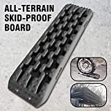 Recovery Tracks Traction Mat Fit for Off-Road Mud Sand Snow Vehicle Extraction Tire Traction Tool Black