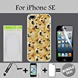 Mr Doge MEME Custom iPhone SE Cases-White-Plastic,Bundle 3in1 Comes with Screen Protector/Universal Stylus Pen by innosub