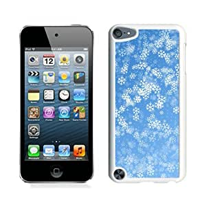 Ipod touch 5 cases,Christmas snowflake iPod Touch 5 Case White cover