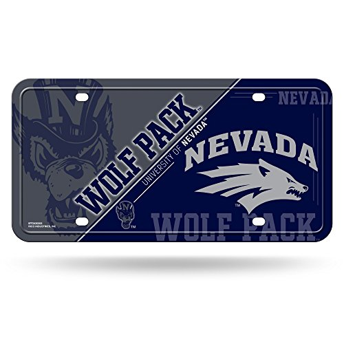 NCAA Nevada Wolf Pack Metal License Plate Tag