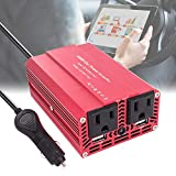 imoli 300W/500W Power Inverter DC 12V to AC 110V Modified Sine Wave Car Converter 3.1A Dual USB 2 AC Outlets Emergency Power Supply