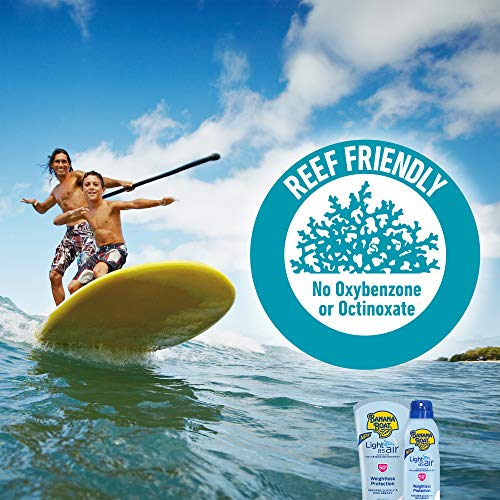 Banana Boat Light As Air, Reef Friendly, Broad Spectrum Sunscreen Lotion, SPF 50, 6oz. – Twin Pack