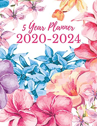5 Year Planner 2020-2024: 60 Month Yearly Planner Monthly Calendar V4