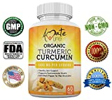 Organic Turmeric Curcumin Supplement-All-Natural Organic Turmeric Curcumin Capsules-Vegan Natural GMP Certified-Joint Pain Support Cardiovascular Protection- Max Absorption 60 Tablets Diet Supplement Review