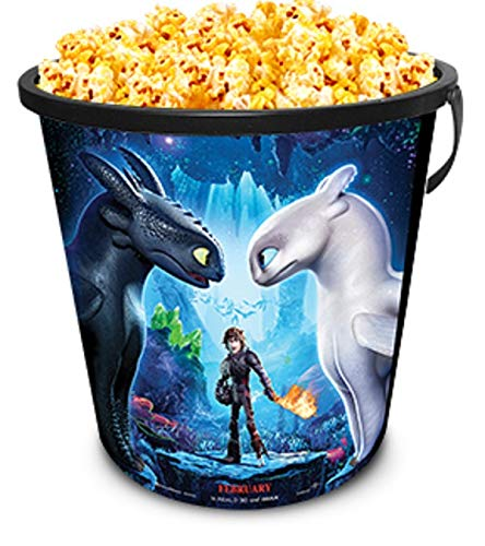 How to Train Your 3 2019 Movie Theater Exclusive 130 Plastic Popcorn Tub