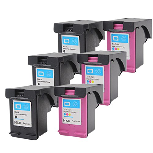1 Black+ 1Tri-Color Tyjtyrjty 2 x 1 Black//1 Tri-Color Compatible for Ink Cartridge 664 XL for hp 664 Cartridge for HP DeskJet 1115 2135 3635 1118 2138 3636 3638 4536 4676 Printher