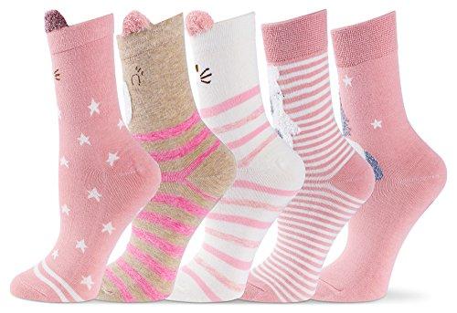 Cartoon Animal Cute Socks For Women Girls Cotton Lovely Fun Casual Novelty Winter Warm  Pink Set  Cat  Bear  Horse  Rabbit