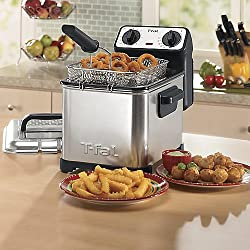 T-fal Family Pro 3-Liter Oil Capacity Electric Deep Fryer with Stainless Steel Waffle - FR4049