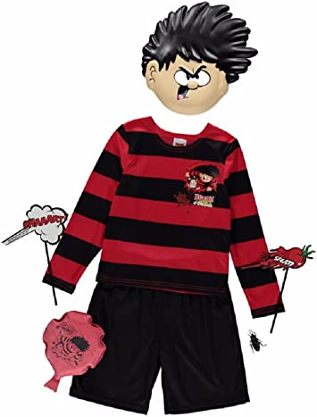Boys Kids Dennis The Menace Fancy Dress Costume Book Week Outfit 5-8 Years