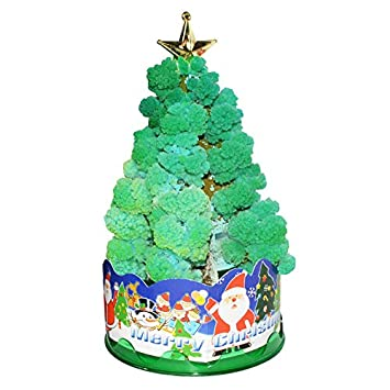FidgetGear Magic Growing Crystal Christmas Tree Kids Creative Birthday Gift Educational Novelty Games Toy Christmas Tree