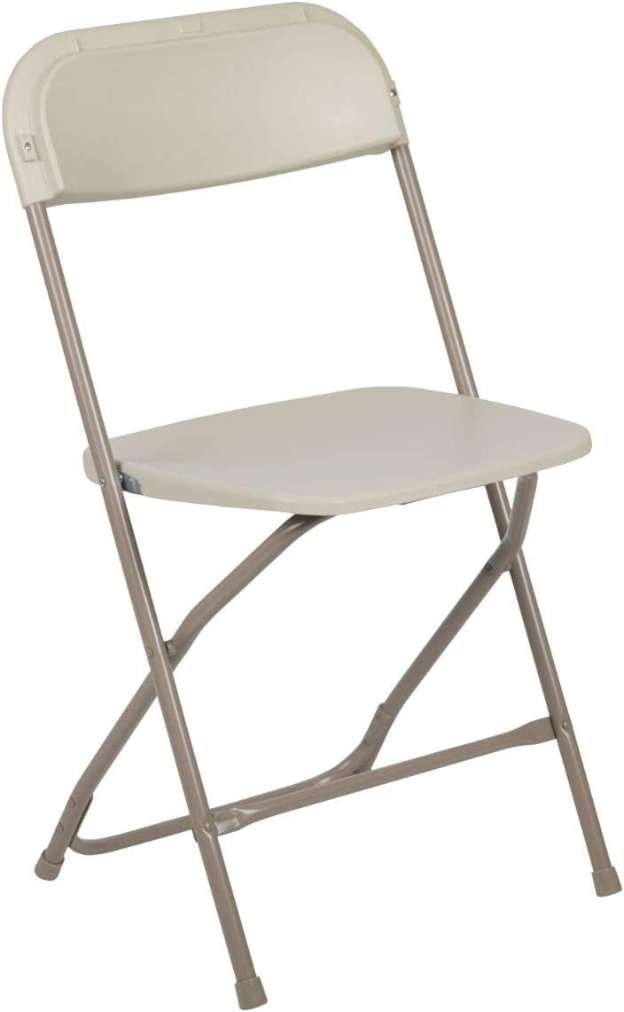 Flash Furniture Hercules Series 800-Pound Premium Plastic Folding Chair, Beige