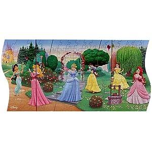 Amazon Com Disney Princess 3 In 1 Panoramic Puzzle Toys