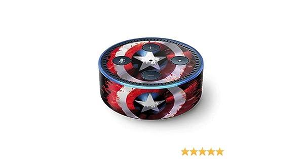 Skin 2nd Gen, 2016 Captain America Shield Vinyl Decal Skin For Your Echo Dot 2nd Gen, 2016 Marvel Captain America Echo Dot