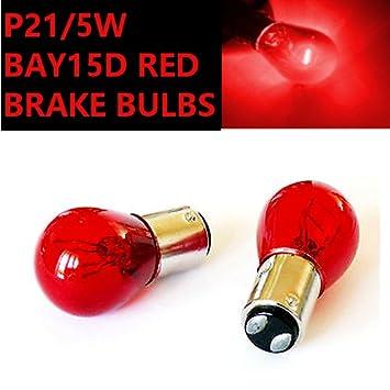2x P21//5W BAY15d 380 RED Stop Brake//Tail Car Bulbs