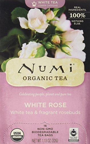 (Numi Organic Tea White Rose, 16 Count Box of Tea Bags, White Tea)