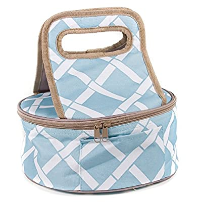 Round Insulated Casserole Carrier Lunch Tote