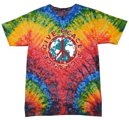 Buy Cool Shirts Give Peace A Chance Tie Dye Woodstock Shirt 2XL