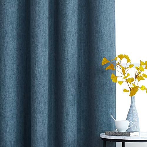 Blackout Grey-Blue Curtains for Bedroom 63