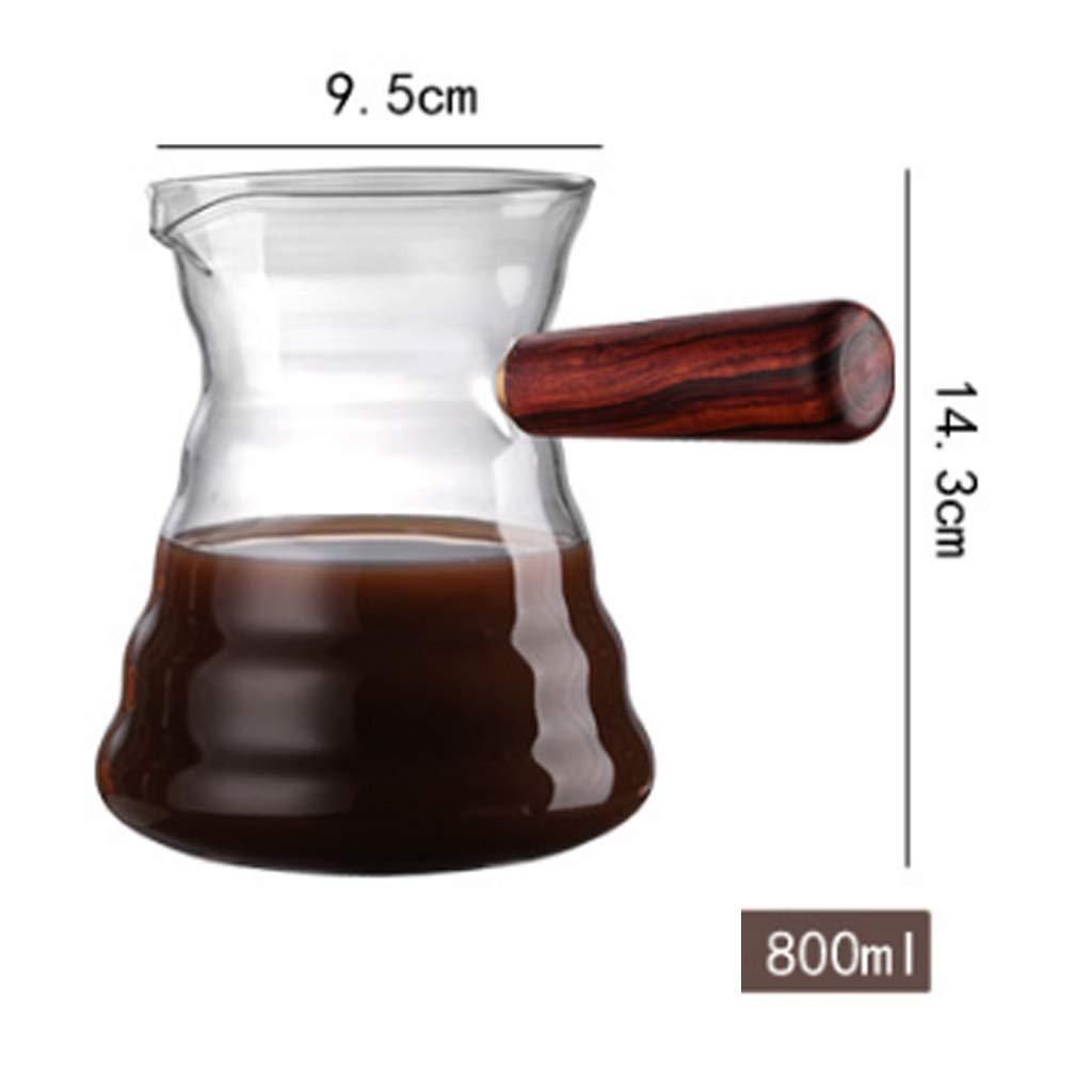 Decantador de cafetera, con un asa fácil de descargar para hasta 6 ...