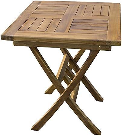 Tavoli Da Giardino In Teak.Tavolo Da Giardino Quadrato In Legno Massello Massiccio