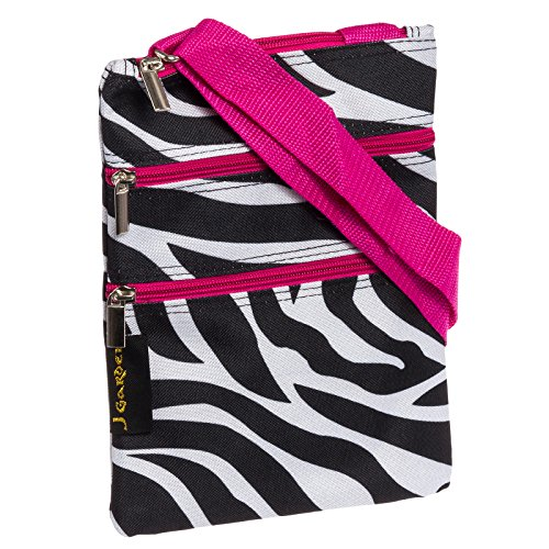 Zebra Fuchsia Hipster Crossbody Purse product image