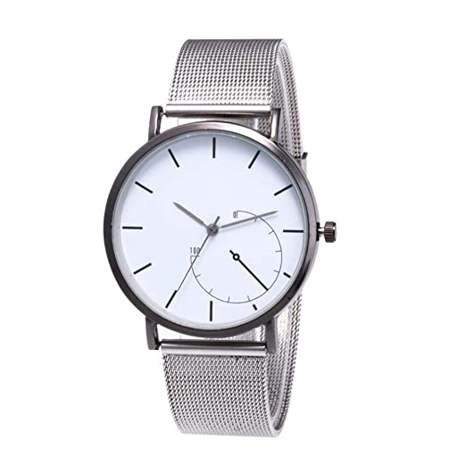Womens Watch,Classic Quartz Stainless Steel Wrist Watch Mesh Bank Business Bracelet Watch Axchongery (
