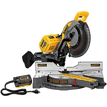 dewalt miter saw. dewalt dhs790ab flexvolt 120v max double bevel compound sliding miter saw with adapter only dewalt u