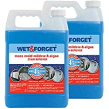 Wet and Forget 10587 1 Gallon Moss, Mold and Mildew Stain Remover (2 Pack(1 Gallon))