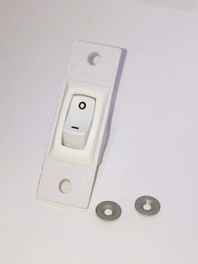 for Jenn Air Replacement 2 Wire Fan Switch Custom Made 12001127 in Stock White Color