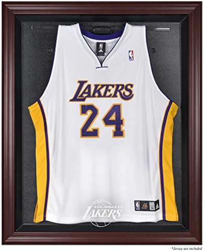 Los Angeles Lakers Mahogany Finished Logo Jersey Display Case by Sports Memorabilia