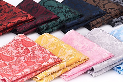 12 PCS Mens Square Handkerchief Printing patterns Pocket for Wedding Party(Pack of 12) by DanDiao (Image #5)