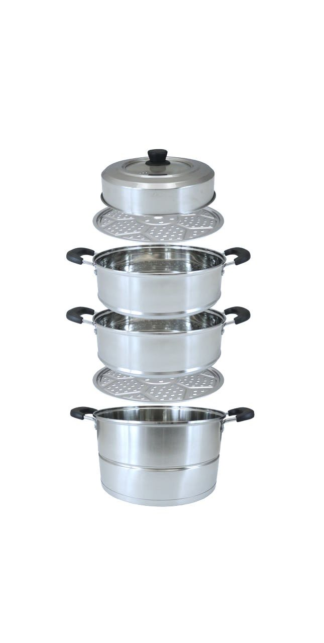 CONCORD 3 Tier Premium Stainless Steel Steamer Set (32 CM) by Concord Cookware (Image #8)