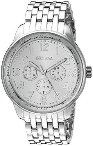 Geneva Women's FMDM161C Analog Display Japanese Quartz Silver Watch