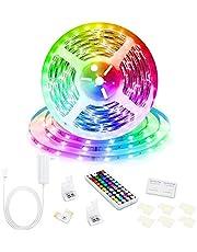 Led Strip Lights, Super Bright RGB 24V Color Changing Led Strip Lights with 44 Keys RF Remote Controller for Bedroom Room TV Party Festival Wedding