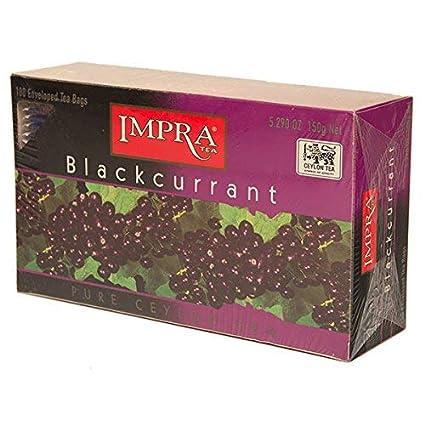 Grosellas Negras té, 100 Envuelto bolsas de té: Amazon.com ...